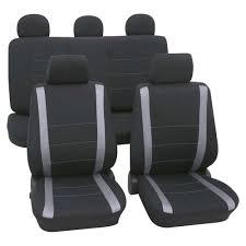 grey black car seat covers for volkswagen golf mk5 2004 2008
