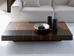 japanese style modern coffee table with ebony look with single log holder
