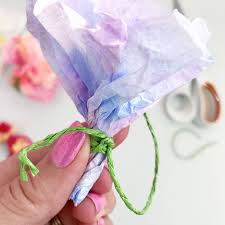 Tissue Paper Flower How To Make Make Easy Tissue Paper Flowers The Country Chic Cottage