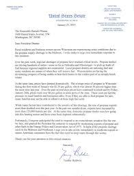 u s senator tammy baldwin of wisconsin propane letter