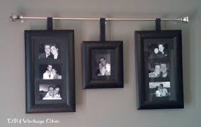 frames number and size of your choosing curtain rod style and length are up to you ribbon measure length from rod to frame and add several inches