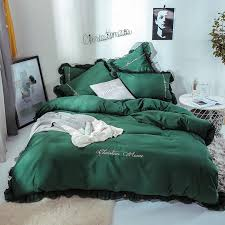 new korean style lace bedding set