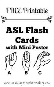 Free Printable Abc Sign Language Chart 19 Free Printable Asl Alphabet Sign Language Flash Cards