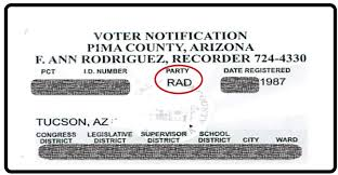 Mailed Arizona Daily Notification Voters Independent – Cards