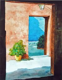 open door painting. Open Door Painting By Girl At Half Open Door Painting 1