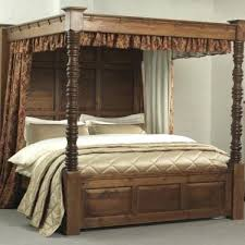 Wood Poster Bed Awesome Traditional Dark Wood Poster Bed With 4 ...