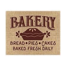 Amazoncom Fresh Baked Pies Burlap Print Fresh Pies Sign Bakery