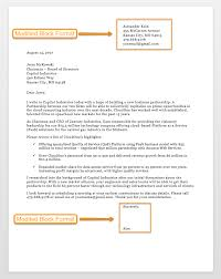 039 Modified Block Format Business Letter Ways To End