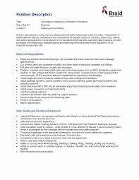 Electrician Foreman Resume Construction Foreman Resume Sample Electrical Foreman Resume 1