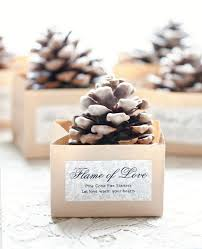 diy pinecone fire starter favors