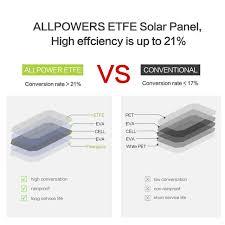 ALLPOWERS 21W <b>Solar Panel Solar</b> Cells Dual USB <b>Solar Charger</b> ...