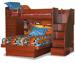 Berg Furniture Sierra 22-816 Space Saver Twin Full Loft Bunk Bed with Chest  and