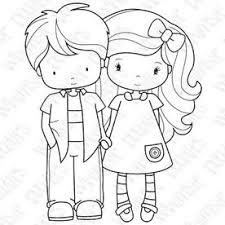 Find images of kids holding hands. Valentine Digital Stamps Digi Stamps Coloring Pages