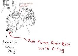 viewing a th fuel leaking back to tank on a 3208 cat 3208injectionpumpgovernorhousingview inpaint jpg