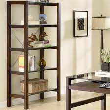 Glass Bookshelf Glass And Wood Bookcase Best Shower Collection