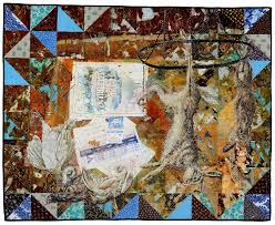 PAST PERFECT: Mixed Media Quilts - Lunch Ticket & Jeana Eve Klein, Should You Be A Vegetarian? (After Utrecht), 2014 Adamdwight.com