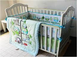 image of modern crib bedding for girls