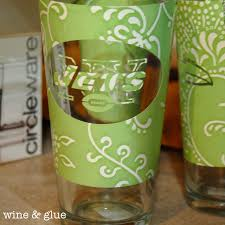 How To Etch Glass Nfl Logo Etched Glasses Wine Glue