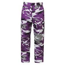 Rothco 7925 Mens Bdu Ultra Violet Camo Pant Large
