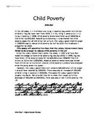 essay children in poverty essay the cause and effect of child poverty essay uk