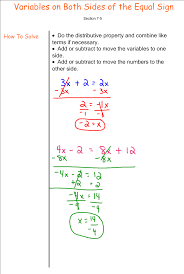 solving equations with variables on both sides 7th grade pre picture this is a multi step equation