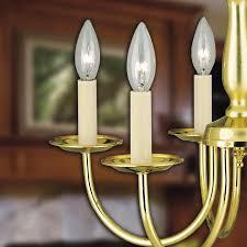 two ivory 4 candle socket covers candelabra base