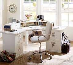 office furniture pottery barn. bedford corner desk antique white office furniture pottery barn i