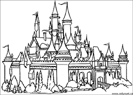 disney castle coloring pages free 1o free