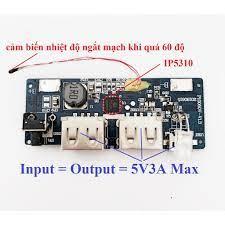 Mạch sạc dự phòng 5V3A có cảm biến nhiệt độ - Pin sạc dự phòng di động  Thương hiệu No Brand