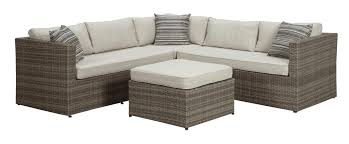 signature design by ashley peckham park outdoor sectional set with ottoman item number p320 outdoor sectional k71 outdoor