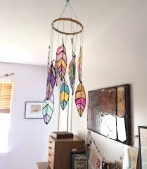 make a diy faux feather mobile