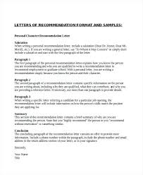Personal Character Letter Samples Samples Of Personal Recommendation Letters Personal