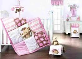 and blanket rhrjenerationorg baby girl nursery set pcs including mobile rhcom baby girls monkey crib bedding