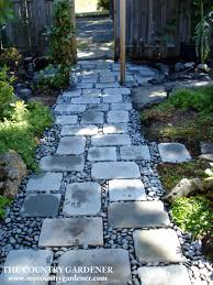 An inexpensive option for a beautiful path. Flagstones and river.