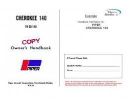 Cherokee 140 Performance Charts Piper Cherokee 140 Poh Wilgrove Airport Mafiadoc Com