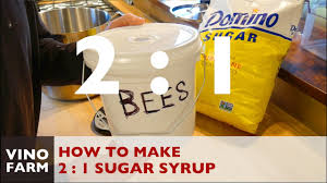 How To Mix 2 1 Sugar Syrup For Feeding Bees