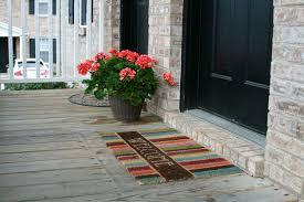 open front door welcome. Notable Front Door Welcome Mat Outdoor With Lovely Stripped Open