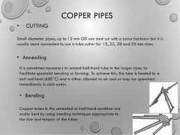 Copper pipes types