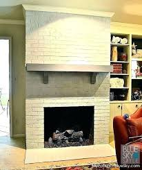 white brick fireplace ideas painted white brick fireplace or paint white brick fireplace painting a brick