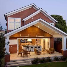 house plans with large front and back porches modern
