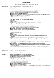 Production Operator Resume Examples Packaging Operator Resume Samples Velvet Jobs 30