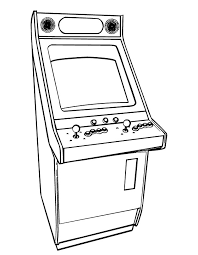 Small Picture Printable Arcade Video Games coloring page from FreshColoringcom