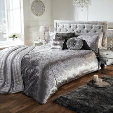 velvet duvet cover details about silver luxury crushed velvet duvet quilt cover bedding set all sizes velvet duvet cover crushed