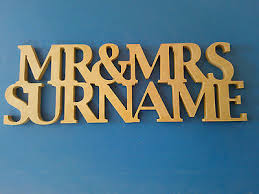 mr mrs mdf wooden letters personalised customised freestanding wedding gift
