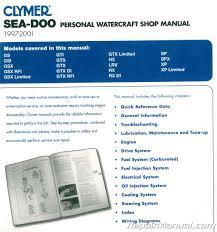 sea doo water vehicles 1997 2001 clymer pwc shop manual Wiring-Diagram 2007 Sea-Doo 1997 Sea Doo Wiring Diagram #40