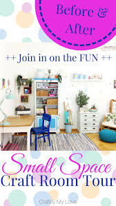 Small spaces craft room storage ideas Tour Before After Small Space Craft Room Tour Supplies Organization And Decor Craftify My Love Before After Small Space Craft Room Tour Craft Room Makeover