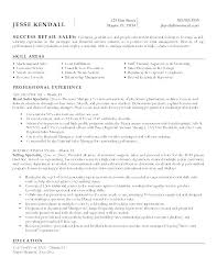 Retail Manager Sample Resume Retail Sales Manager Resume Retail