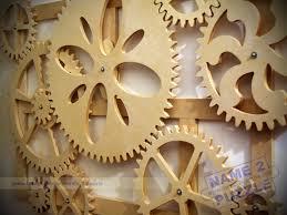 wooden kinetic wall great gear wall art