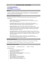Ankit Seo Resume