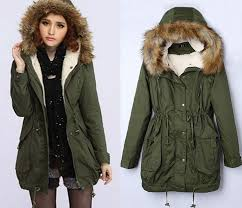 winter jackets for women wo0027s thick military jacket faux fur hood long winter coat lining parka